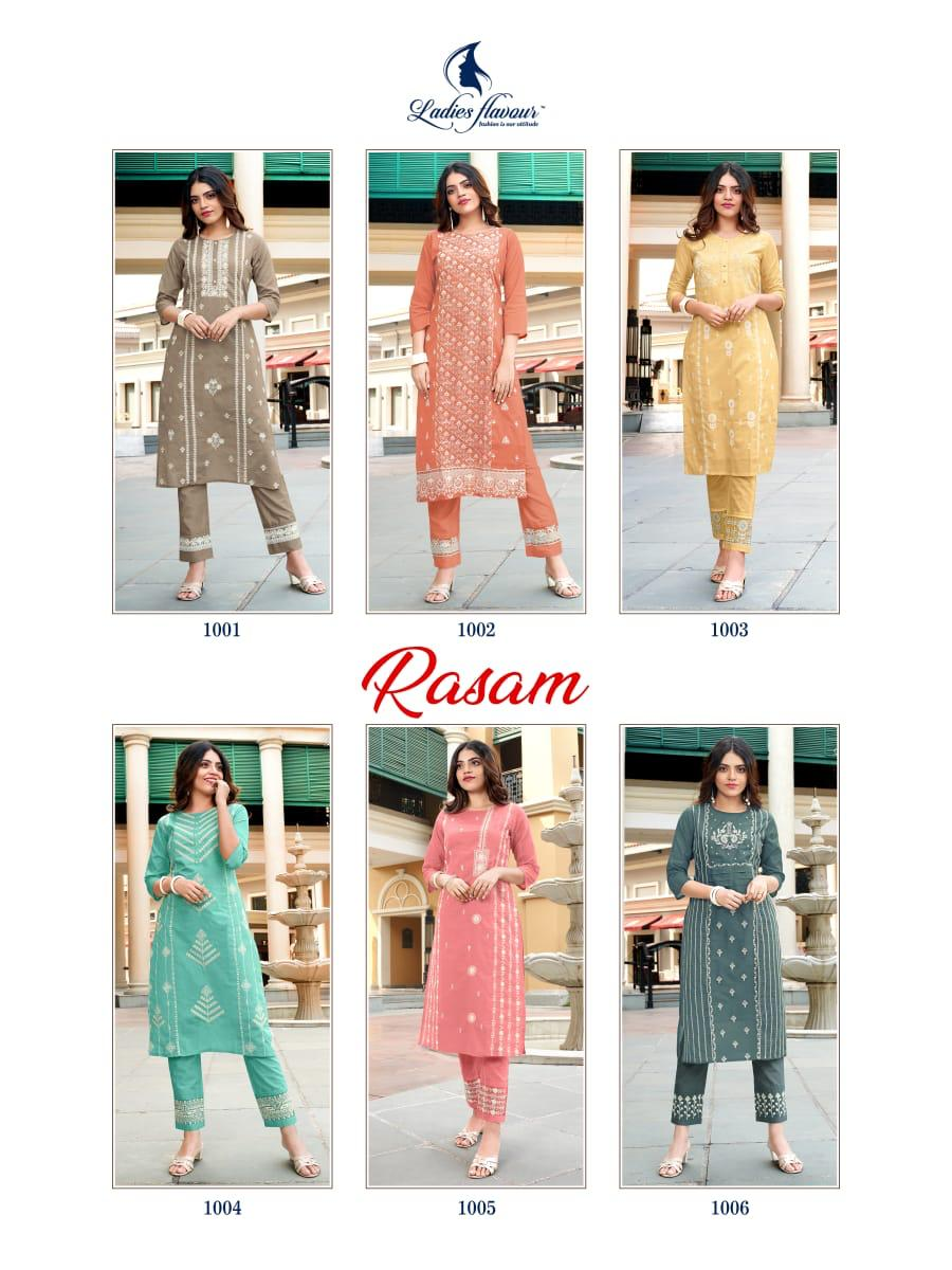 Ladies Flavour Rasam Kurti with Pant Wholesale Catalog 6 Pcs 11 - Ladies Flavour Rasam Kurti with Pant Wholesale Catalog 6 Pcs