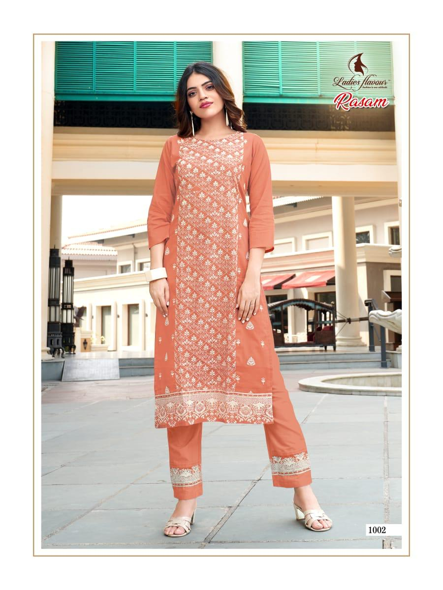 Ladies Flavour Rasam Kurti with Pant Wholesale Catalog 6 Pcs 13 - Ladies Flavour Rasam Kurti with Pant Wholesale Catalog 6 Pcs