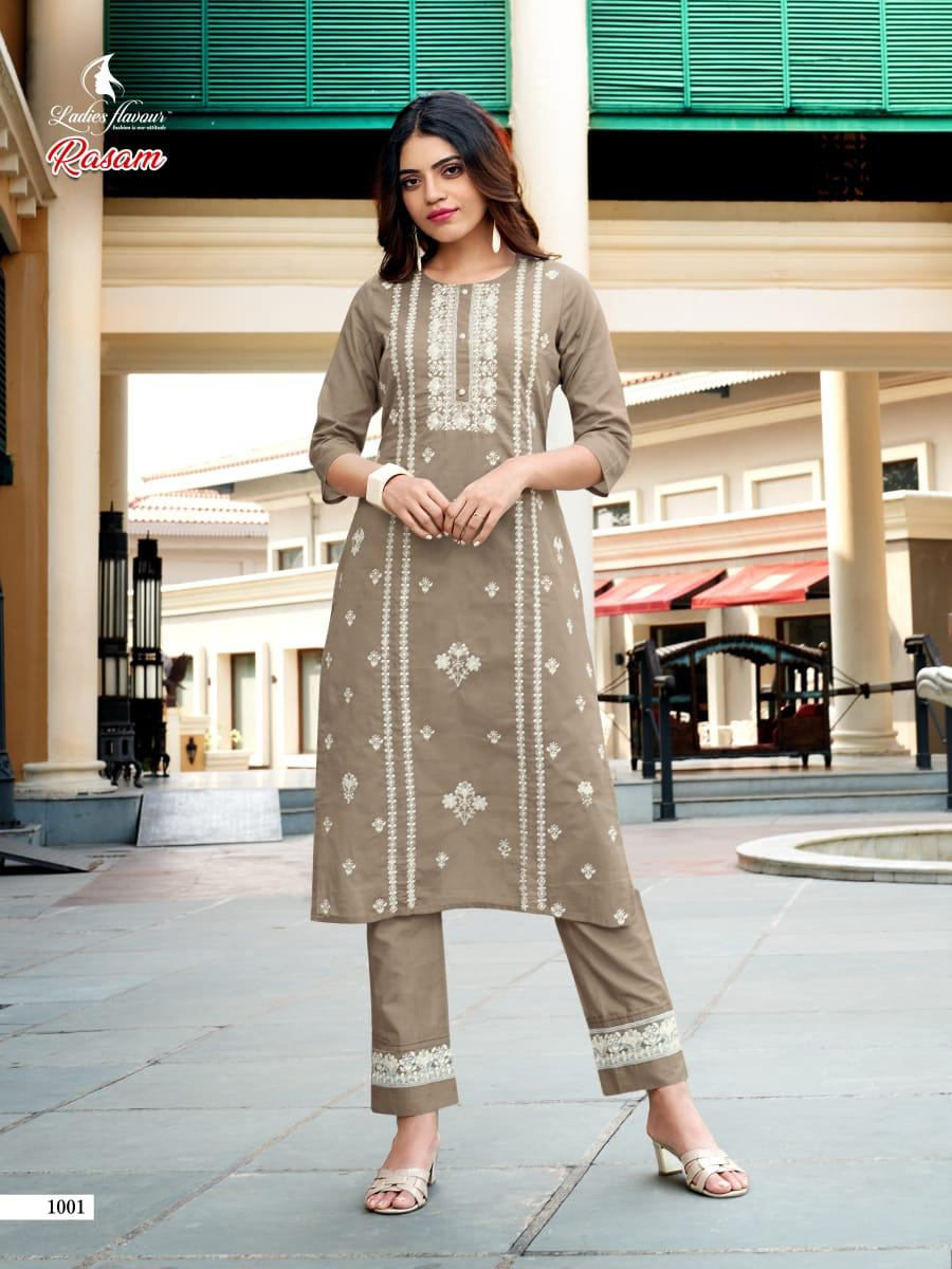 Ladies Flavour Rasam Kurti with Pant Wholesale Catalog 6 Pcs 2 - Ladies Flavour Rasam Kurti with Pant Wholesale Catalog 6 Pcs