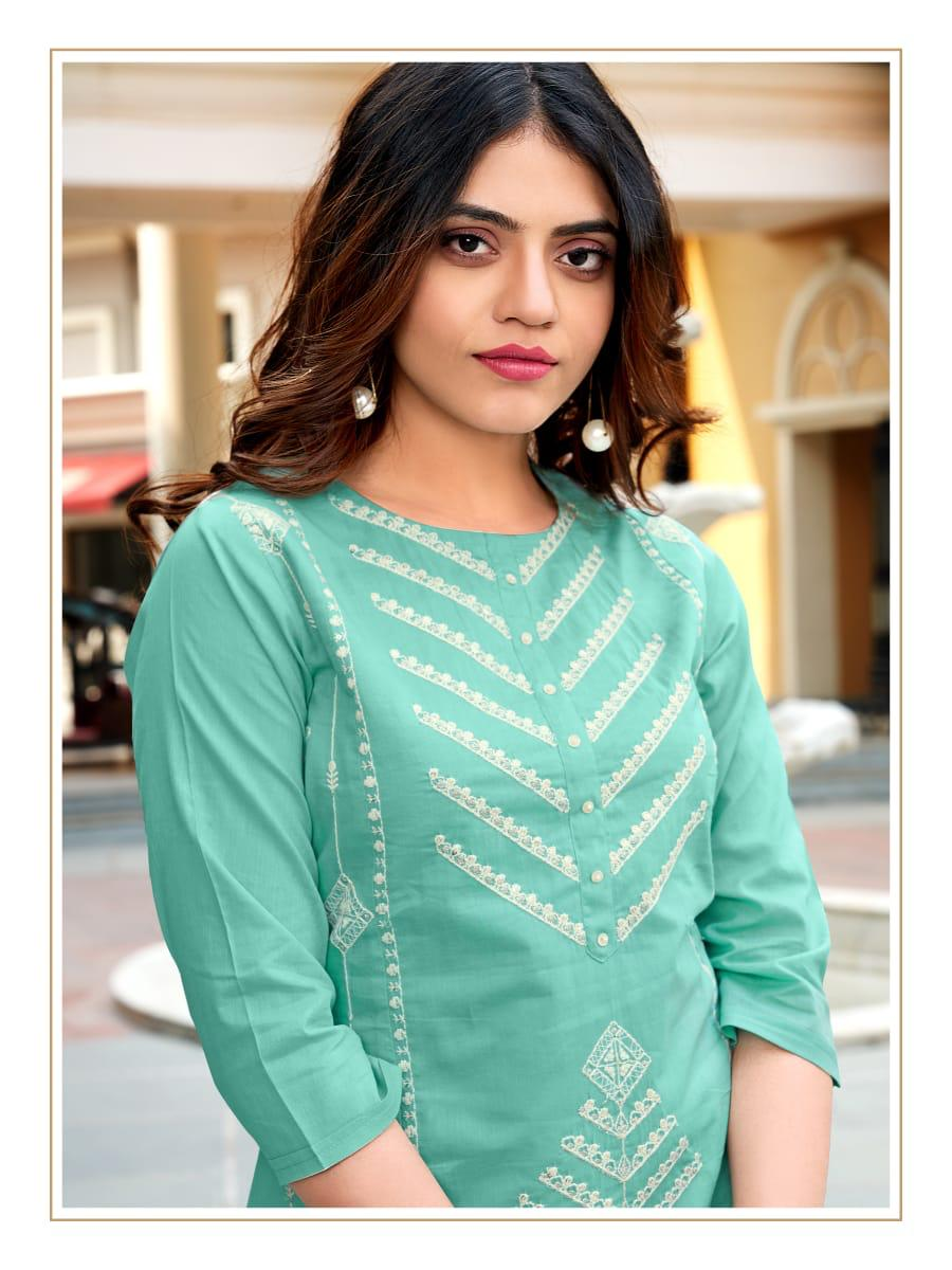 Ladies Flavour Rasam Kurti with Pant Wholesale Catalog 6 Pcs 5 - Ladies Flavour Rasam Kurti with Pant Wholesale Catalog 6 Pcs