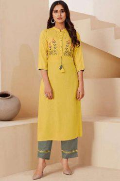 Lt Fabrics Nitya Inaya vol 3 Kurti with Palazzo Wholesale Catalog 8 Pcs