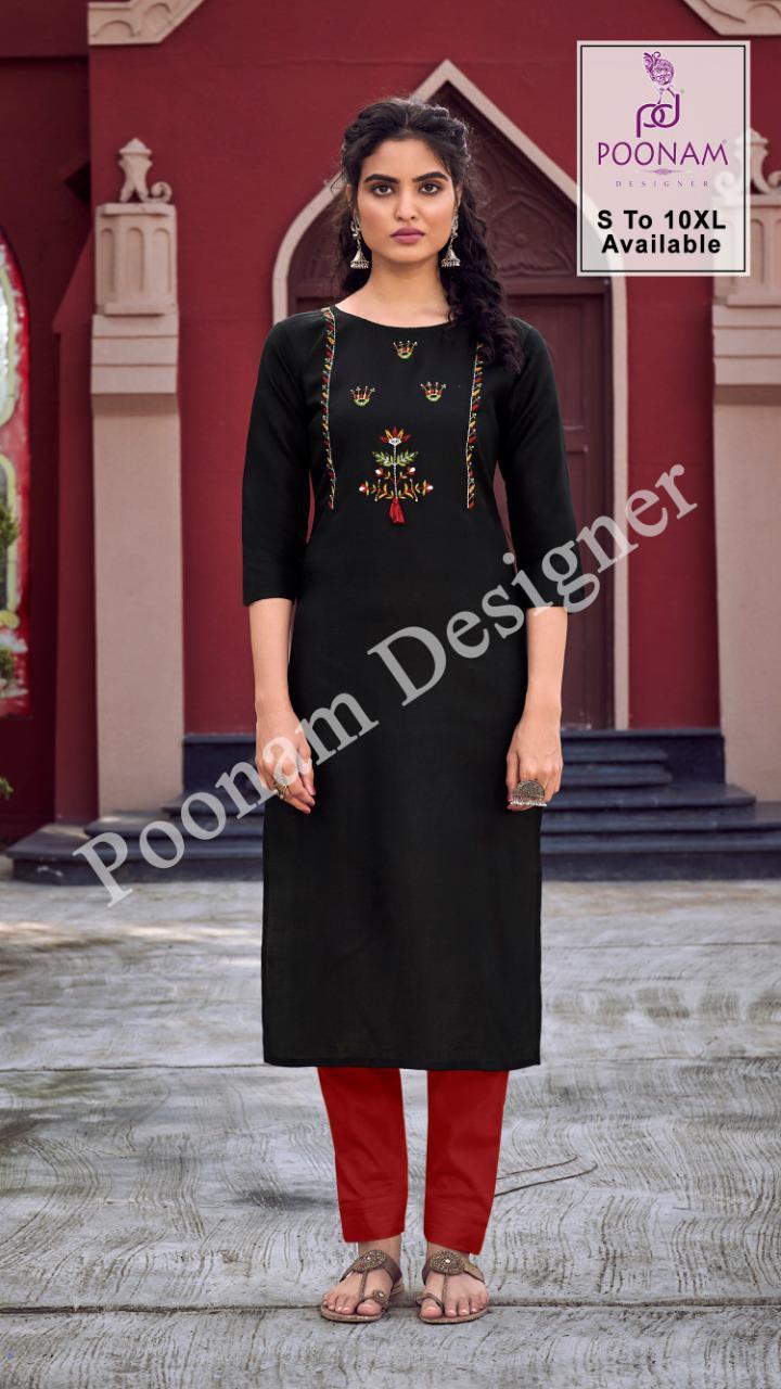 Poonam Designer Diva Vol 10 Kurti Wholesale Catalog 12 Pcs 11 - Poonam Designer Diva Vol 10 Kurti Wholesale Catalog 12 Pcs