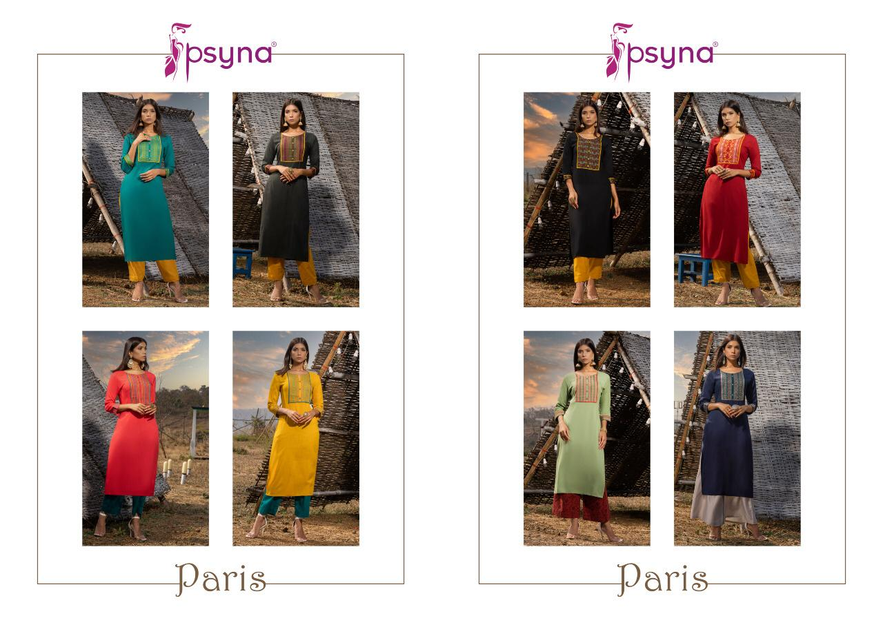 Psyna Paris Vol 2 Kurti Wholesale Catalog 8 Pcs 6 - Psyna Paris Vol 2 Kurti Wholesale Catalog 8 Pcs