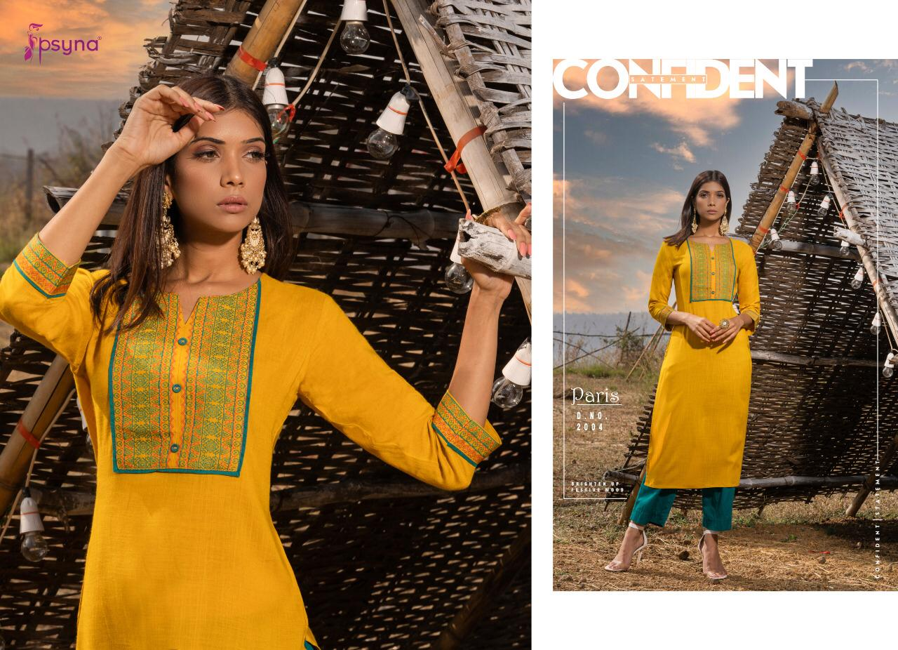 Psyna Paris Vol 2 Kurti Wholesale Catalog 8 Pcs 8 - Psyna Paris Vol 2 Kurti Wholesale Catalog 8 Pcs