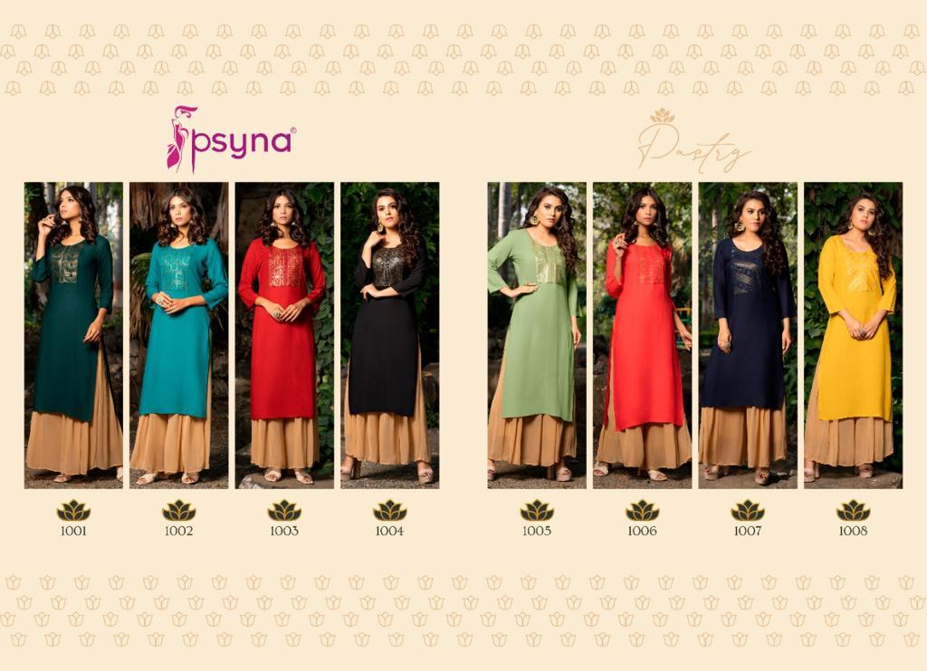 Psyna Pastry Kurti Wholesale Catalog 8 Pcs 11 - Psyna Pastry Kurti Wholesale Catalog 8 Pcs