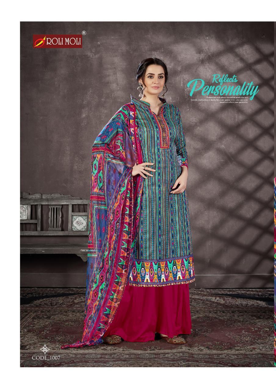 Roli Moli Mallika Salwar Suit Wholesale Catalog 10 Pcs 10 - Roli Moli Mallika Salwar Suit Wholesale Catalog 10 Pcs