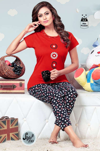 SF Premium Night Wear Vol 63 Wholesale Catalog 6 Pcs