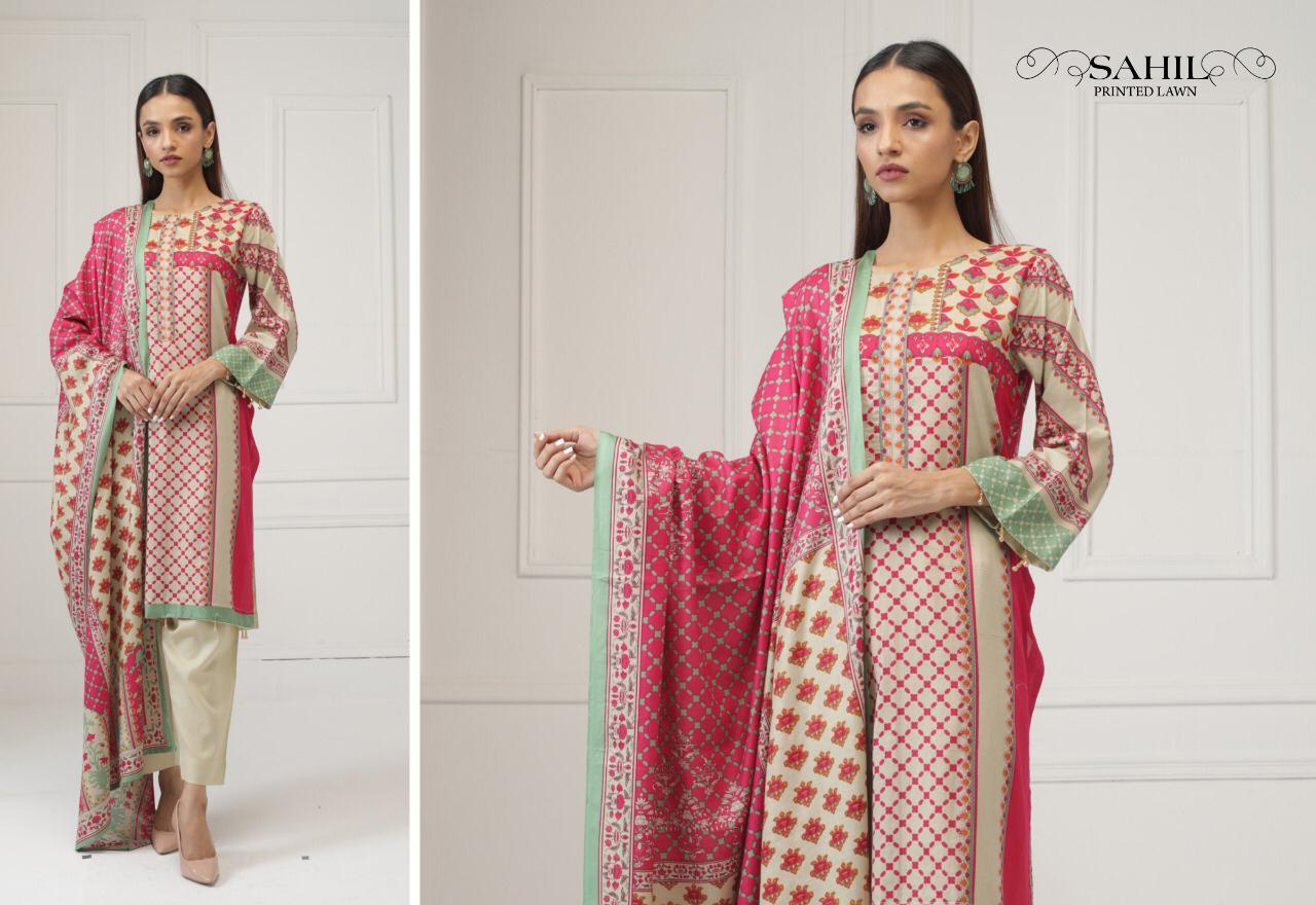 Sahil Printed Lawn Salwar Suit Wholesale Catalog 8 Pcs 1 - Sahil Printed Lawn Salwar Suit Wholesale Catalog 8 Pcs