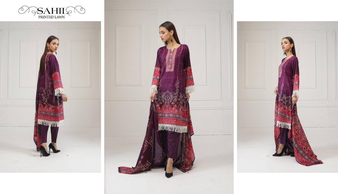 Sahil Printed Lawn Salwar Suit Wholesale Catalog 8 Pcs 12 - Sahil Printed Lawn Salwar Suit Wholesale Catalog 8 Pcs