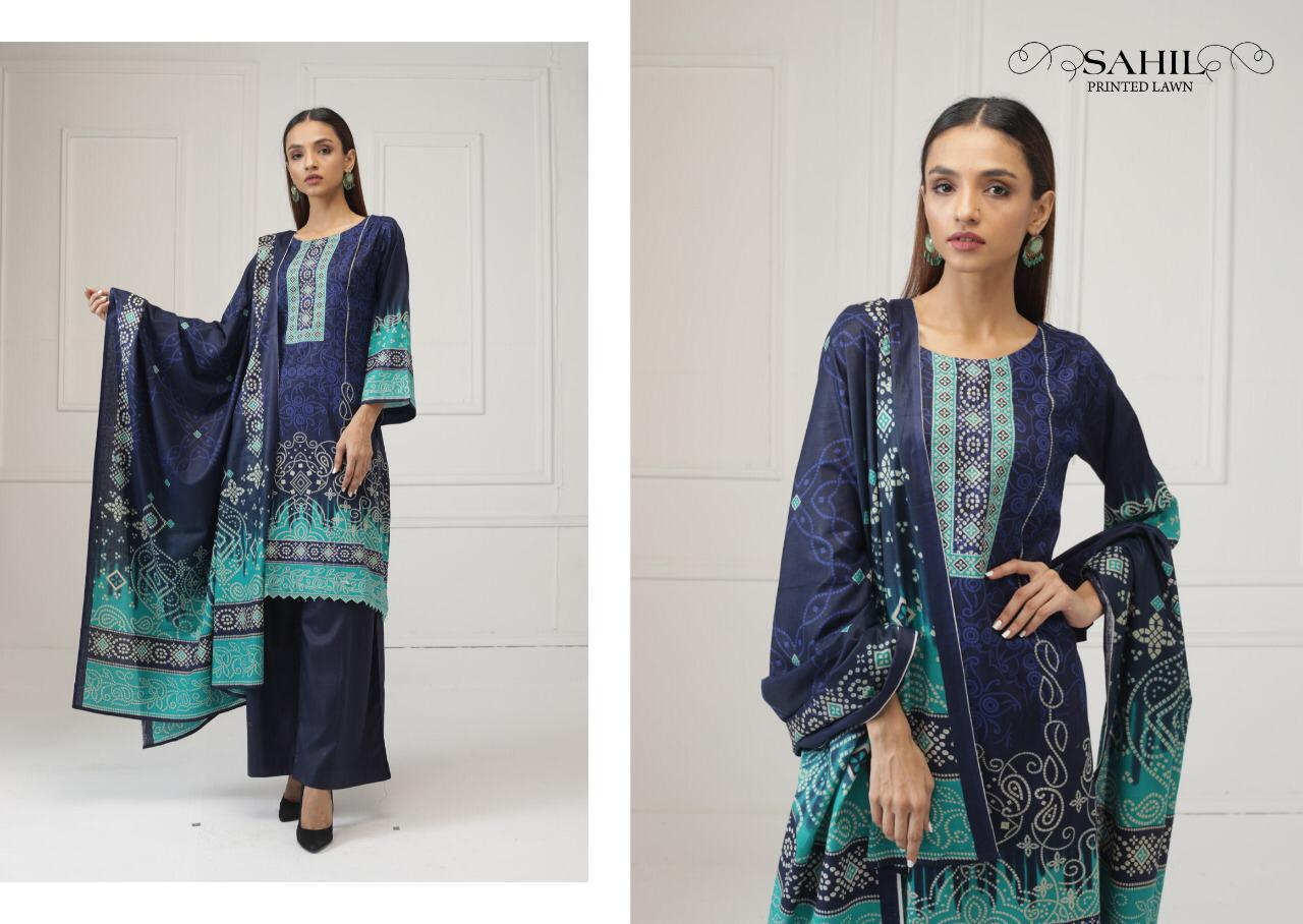 Sahil Printed Lawn Salwar Suit Wholesale Catalog 8 Pcs 2 - Sahil Printed Lawn Salwar Suit Wholesale Catalog 8 Pcs