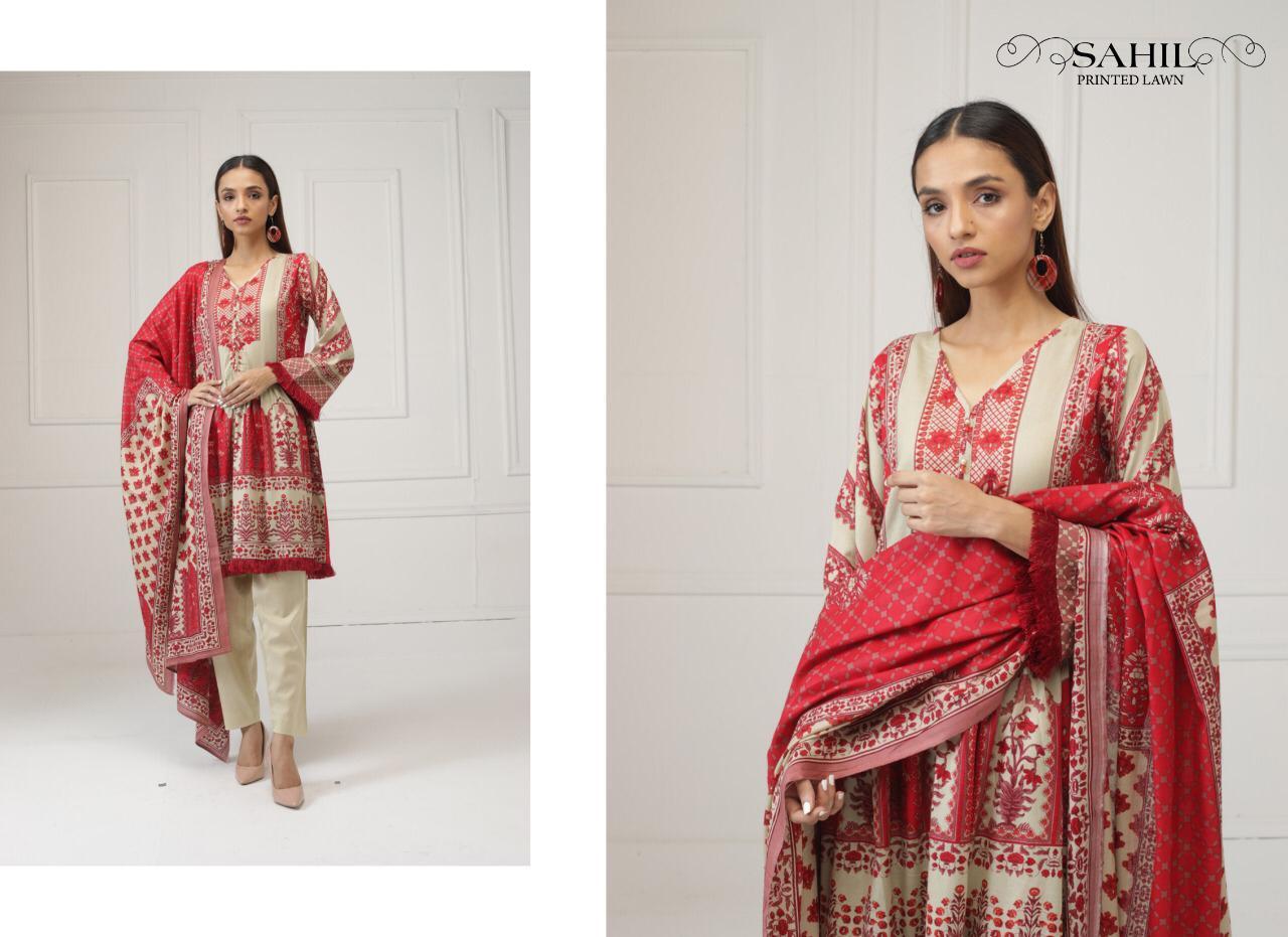 Sahil Printed Lawn Salwar Suit Wholesale Catalog 8 Pcs 5 - Sahil Printed Lawn Salwar Suit Wholesale Catalog 8 Pcs