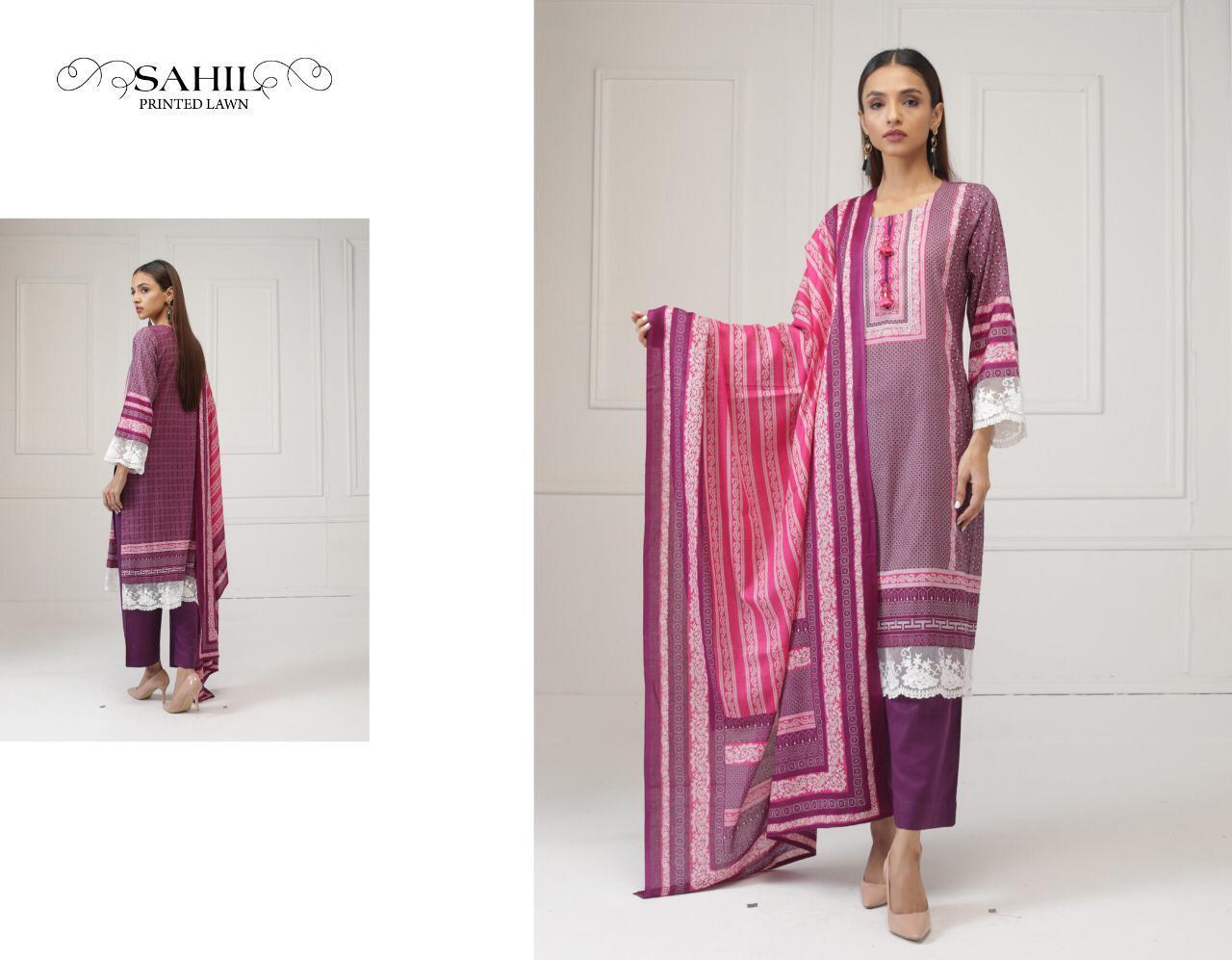Sahil Printed Lawn Salwar Suit Wholesale Catalog 8 Pcs 8 - Sahil Printed Lawn Salwar Suit Wholesale Catalog 8 Pcs