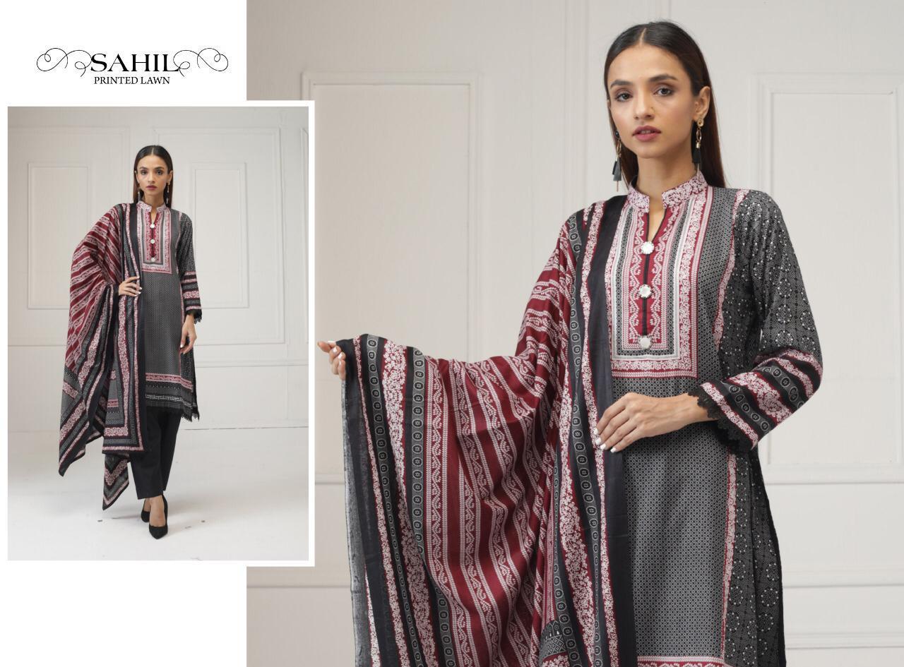 Sahil Printed Lawn Salwar Suit Wholesale Catalog 8 Pcs 9 - Sahil Printed Lawn Salwar Suit Wholesale Catalog 8 Pcs