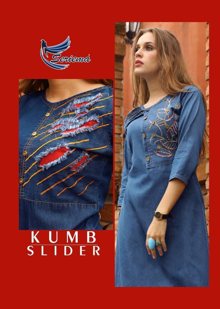 Seriema Kumb Slider Kurti Wholesale Catalog 6 Pcs 1 - Seriema Kumb Slider Kurti Wholesale Catalog 6 Pcs