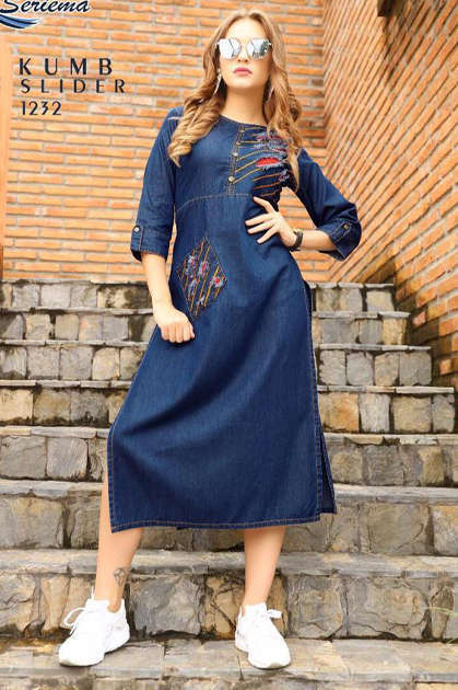 Seriema Kumb Slider Kurti Wholesale Catalog 6 Pcs