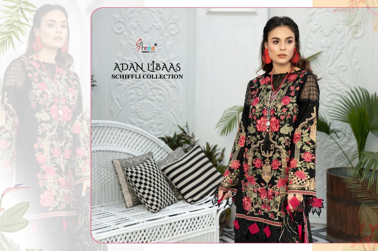 Shree Fabs Adan Libaas Schiffli Collection Salwar Suit Wholesale Catalog 5 Pcs 6 - Shree Fabs Adan Libaas Schiffli Collection Salwar Suit Wholesale Catalog 5 Pcs