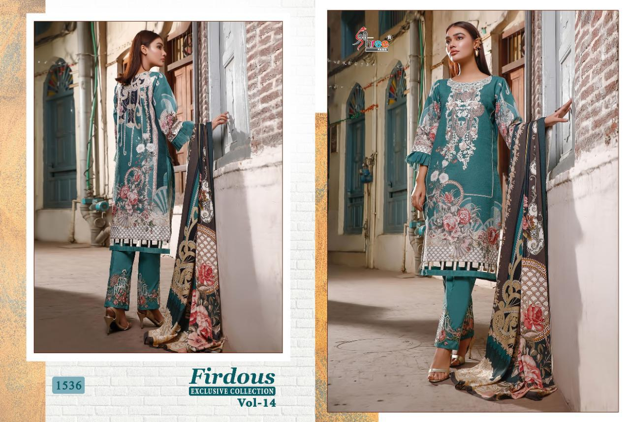 Shree Fabs Firdous Exclusive Collection Vol 14 Salwar Suit Wholesale Catalog 8 Pcs 16 - Shree Fabs Firdous Exclusive Collection Vol 14 Salwar Suit Wholesale Catalog 8 Pcs