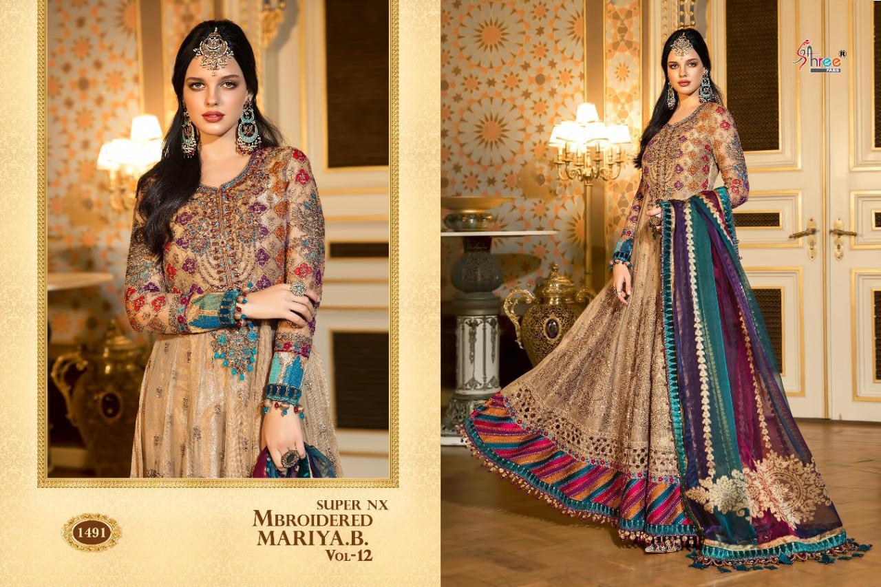 Shree Fabs Mbroidered Mariya B Vol 12 Super Nx Salwar Suit Wholesale Catalog 4 Pcs 2 - Shree Fabs Mbroidered Mariya B Vol 12 Super Nx Salwar Suit Wholesale Catalog 4 Pcs