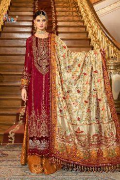 Shree Fabs Mbroidered Mariya B Vol 12 Super Nx Salwar Suit Wholesale Catalog 4 Pcs