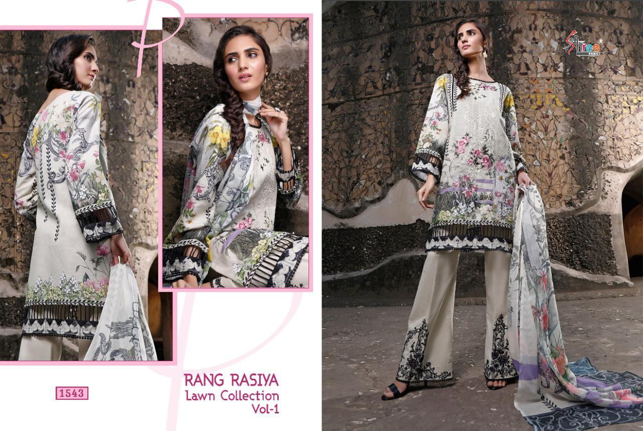 Shree Fabs Rang Rasiya Lawn Collection Vol 1 Salwar Suit Wholesale Catalog 7 Pcs 7 - Shree Fabs Rang Rasiya Lawn Collection Vol 1 Salwar Suit Wholesale Catalog 7 Pcs