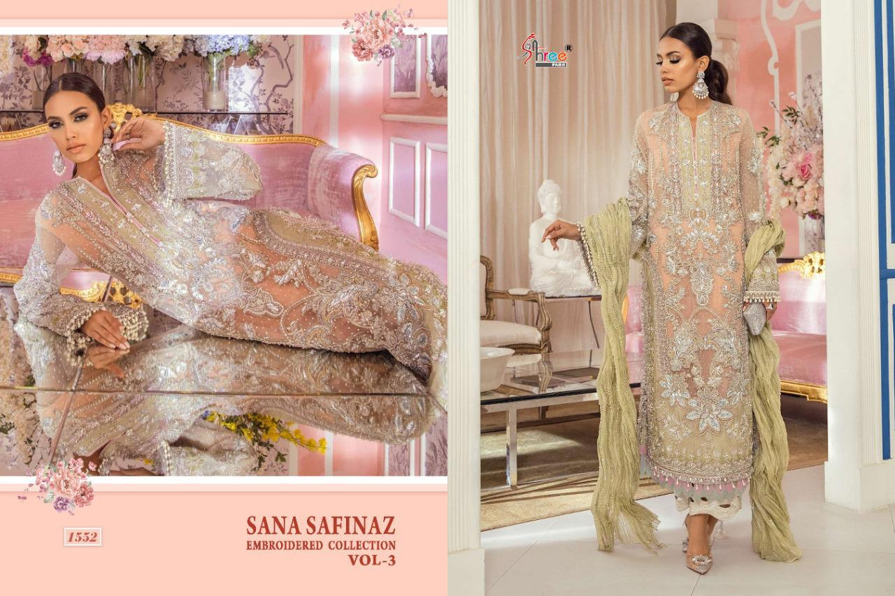 Shree Fabs Sana Safinaz Embroidered Collection Vol 3 Salwar Suit Wholesale Catalog 4 Pcs 2 - Shree Fabs Sana Safinaz Embroidered Collection Vol 3 Salwar Suit Wholesale Catalog 4 Pcs