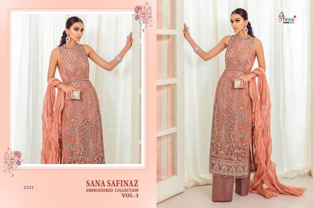Shree Fabs Sana Safinaz Embroidered Collection Vol 3 Salwar Suit Wholesale Catalog 4 Pcs 3 - Shree Fabs Sana Safinaz Embroidered Collection Vol 3 Salwar Suit Wholesale Catalog 4 Pcs