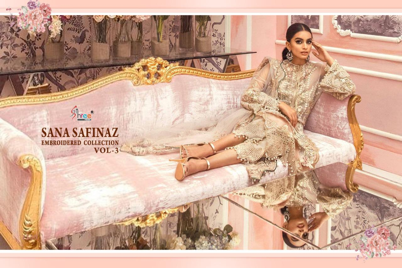 Shree Fabs Sana Safinaz Embroidered Collection Vol 3 Salwar Suit Wholesale Catalog 4 Pcs 4 - Shree Fabs Sana Safinaz Embroidered Collection Vol 3 Salwar Suit Wholesale Catalog 4 Pcs