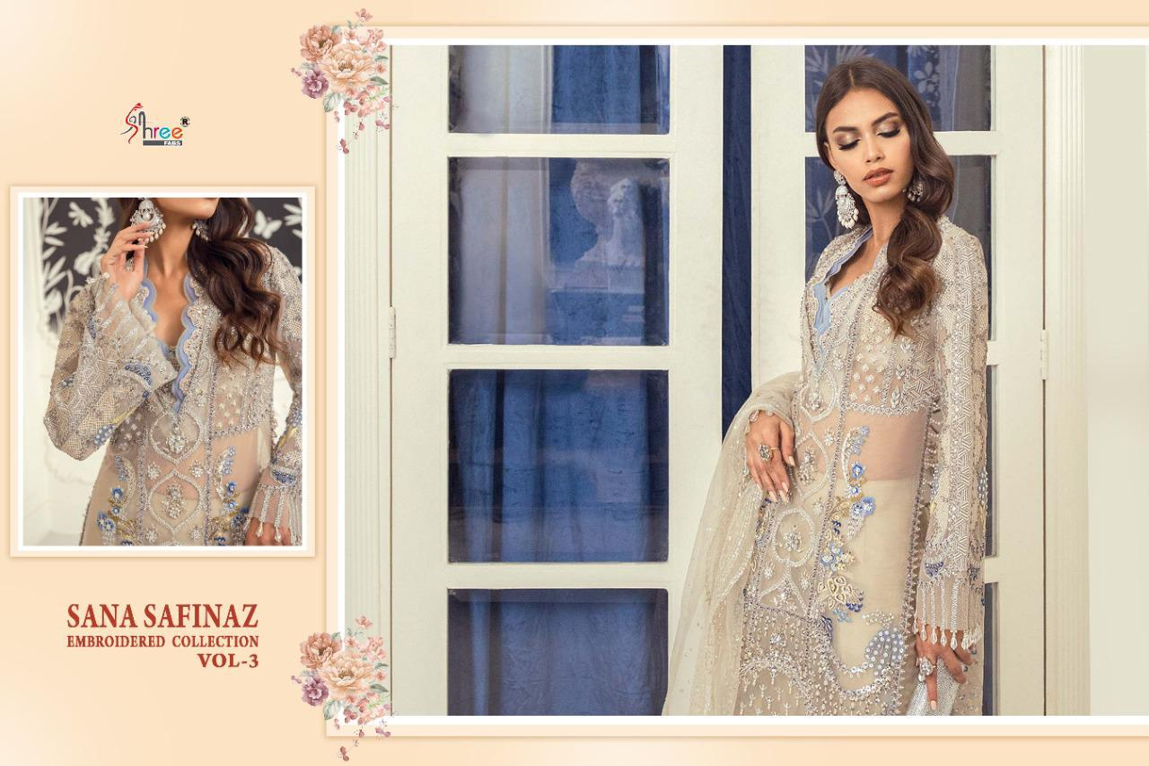 Shree Fabs Sana Safinaz Embroidered Collection Vol 3 Salwar Suit Wholesale Catalog 4 Pcs 5 - Shree Fabs Sana Safinaz Embroidered Collection Vol 3 Salwar Suit Wholesale Catalog 4 Pcs
