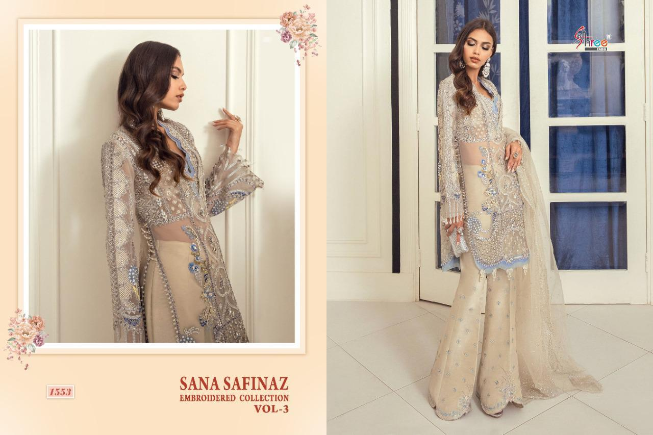 Shree Fabs Sana Safinaz Embroidered Collection Vol 3 Salwar Suit Wholesale Catalog 4 Pcs 6 - Shree Fabs Sana Safinaz Embroidered Collection Vol 3 Salwar Suit Wholesale Catalog 4 Pcs