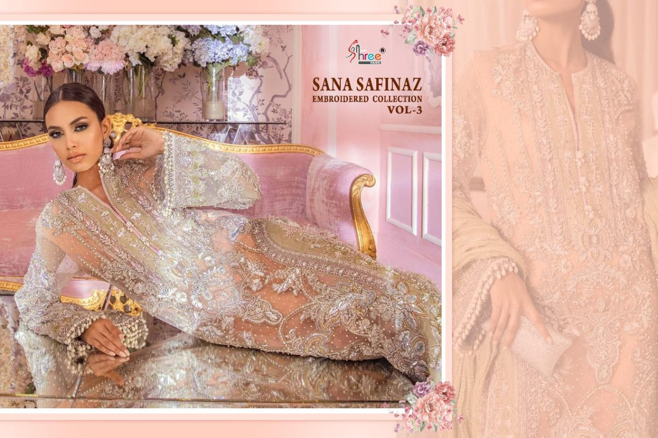 Shree Fabs Sana Safinaz Embroidered Collection Vol 3 Salwar Suit Wholesale Catalog 4 Pcs 7 - Shree Fabs Sana Safinaz Embroidered Collection Vol 3 Salwar Suit Wholesale Catalog 4 Pcs