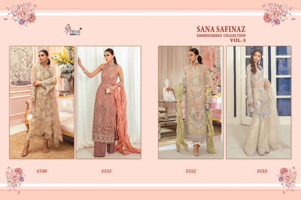 Shree Fabs Sana Safinaz Embroidered Collection Vol 3 Salwar Suit Wholesale Catalog 4 Pcs 9 - Shree Fabs Sana Safinaz Embroidered Collection Vol 3 Salwar Suit Wholesale Catalog 4 Pcs