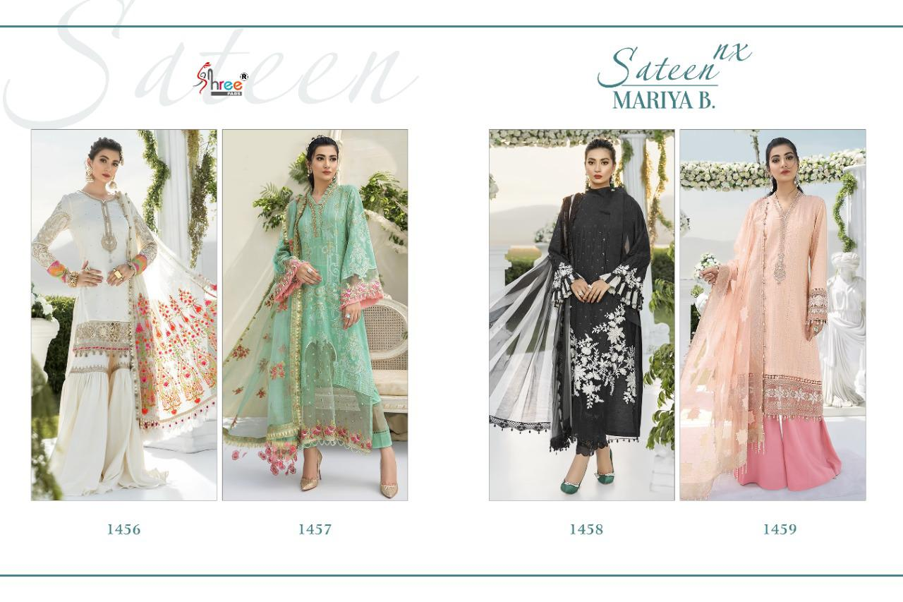 Shree Fabs Sateen Mariya B Nx Salwar Suit Wholesale Catalog 4 Pcs 7 - Shree Fabs Sateen Mariya B Nx Salwar Suit Wholesale Catalog 4 Pcs