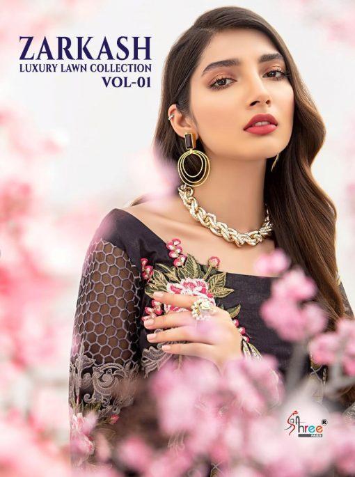 Shree Fabs Zarkash Luxury Lawn Collection Vol 1 Salwar Suit Wholesale Catalog 8 Pcs 2 510x685 - Shree Fabs Zarkash Luxury Lawn Collection Vol 1 Salwar Suit Wholesale Catalog 8 Pcs