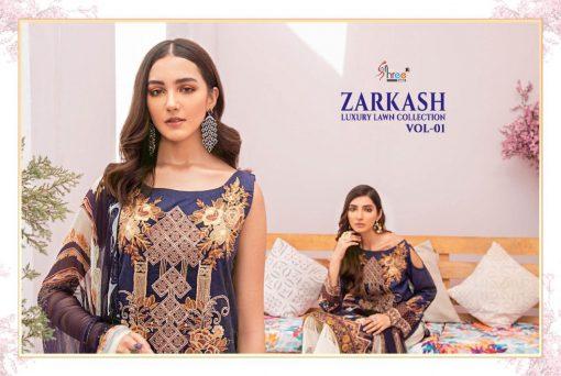 Shree Fabs Zarkash Luxury Lawn Collection Vol 1 Salwar Suit Wholesale Catalog 8 Pcs 3 510x342 - Shree Fabs Zarkash Luxury Lawn Collection Vol 1 Salwar Suit Wholesale Catalog 8 Pcs