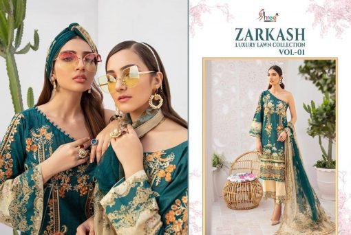 Shree Fabs Zarkash Luxury Lawn Collection Vol 1 Salwar Suit Wholesale Catalog 8 Pcs 4 510x342 - Shree Fabs Zarkash Luxury Lawn Collection Vol 1 Salwar Suit Wholesale Catalog 8 Pcs