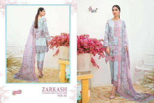 Shree Fabs Zarkash Luxury Lawn Collection Vol 1 Salwar Suit Wholesale Catalog 8 Pcs 5 510x342 - Shree Fabs Zarkash Luxury Lawn Collection Vol 1 Salwar Suit Wholesale Catalog 8 Pcs