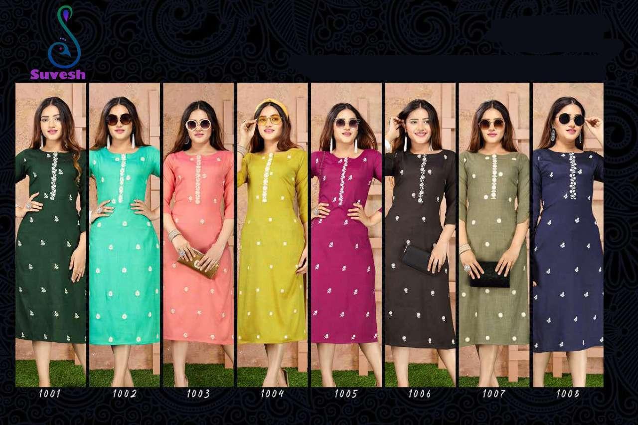 Suvesh Infinity Kurti Wholesale Catalog 8 Pcs 9 - Suvesh Infinity Kurti Wholesale Catalog 8 Pcs