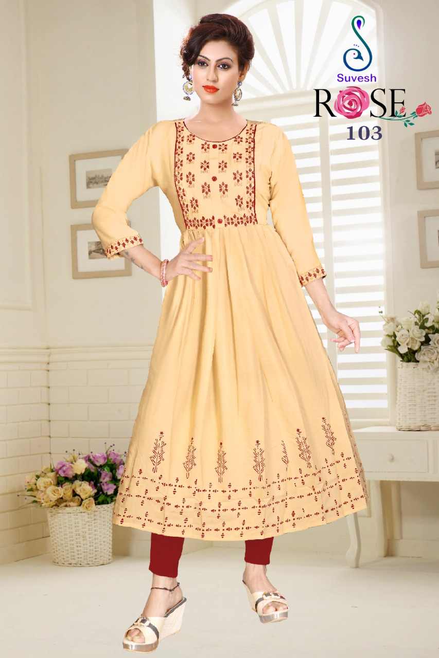 Suvesh Rose Vol 3 Kurti Wholesale Catalog 8 Pcs 1 - Suvesh Rose Vol 3 Kurti Wholesale Catalog 8 Pcs