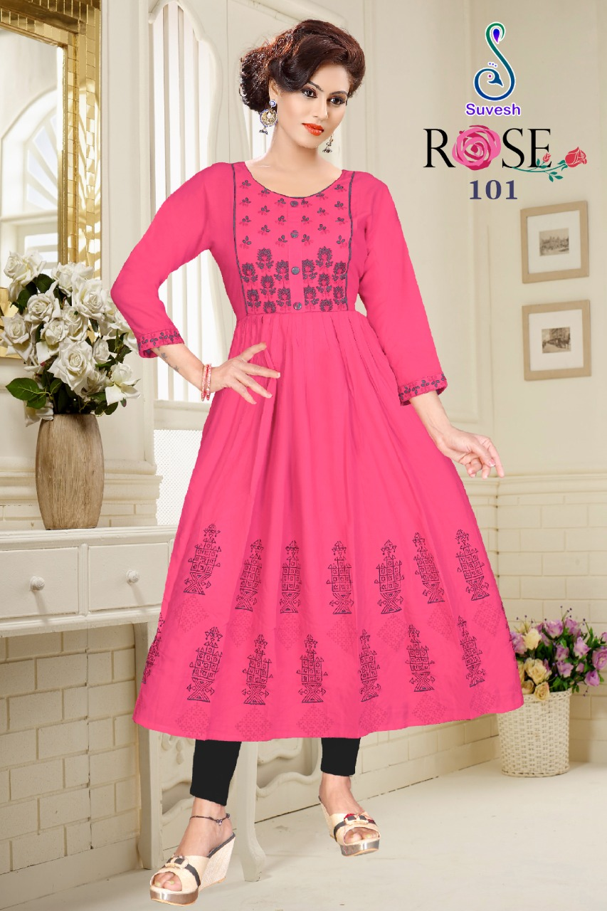 Suvesh Rose Vol 3 Kurti Wholesale Catalog 8 Pcs 10 - Suvesh Rose Vol 3 Kurti Wholesale Catalog 8 Pcs