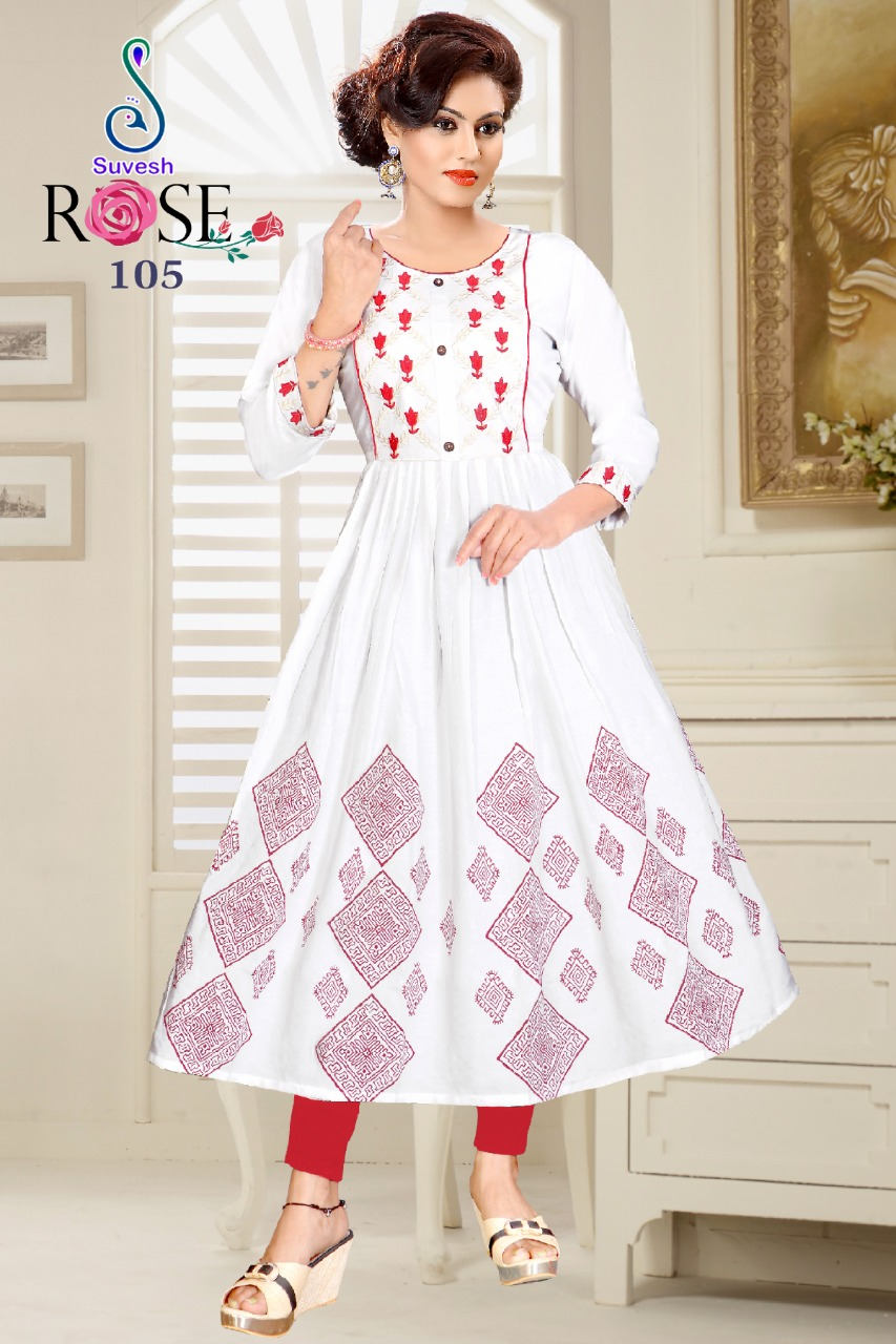 Suvesh Rose Vol 3 Kurti Wholesale Catalog 8 Pcs 4 - Suvesh Rose Vol 3 Kurti Wholesale Catalog 8 Pcs