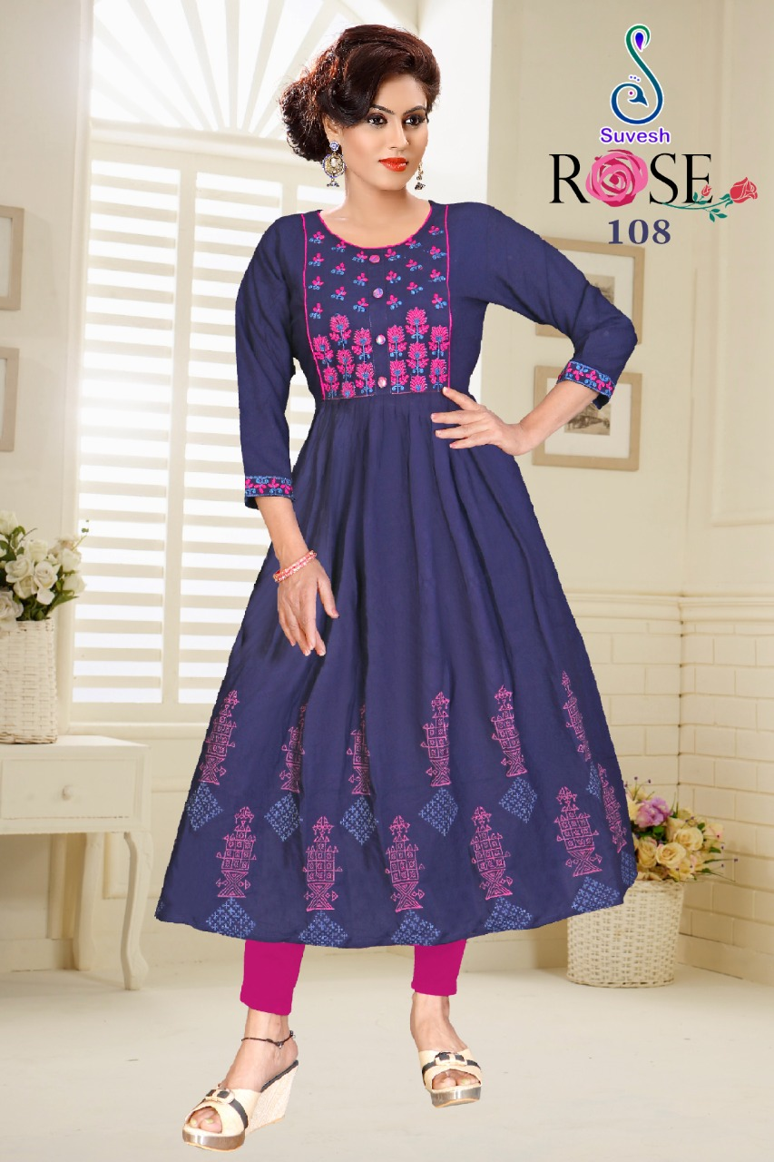 Suvesh Rose Vol 3 Kurti Wholesale Catalog 8 Pcs 7 - Suvesh Rose Vol 3 Kurti Wholesale Catalog 8 Pcs