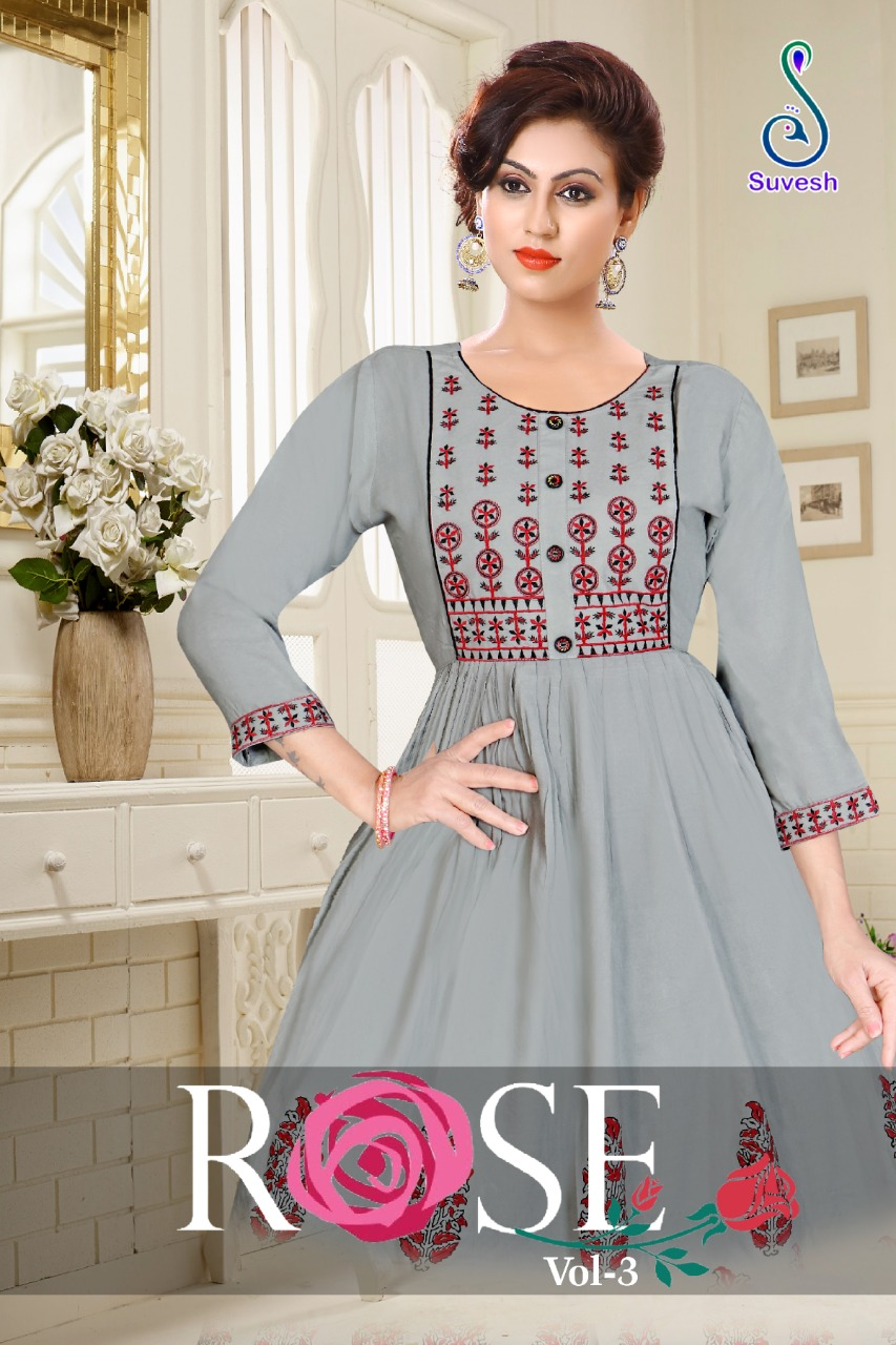 Suvesh Rose Vol 3 Kurti Wholesale Catalog 8 Pcs 8 - Suvesh Rose Vol 3 Kurti Wholesale Catalog 8 Pcs