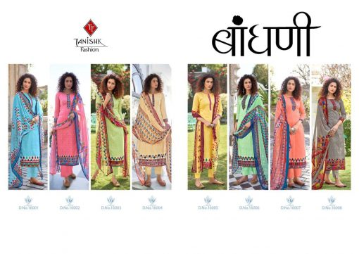 Tanishk Bandhani Salwar Suit Wholesale Catalog 8 Pcs 11 510x361 - Tanishk Bandhani Salwar Suit Wholesale Catalog 8 Pcs