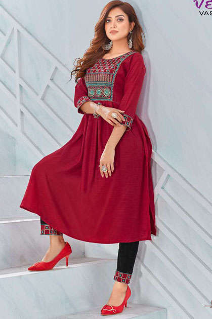 Vedik Vastram Rich Look Vol 1 Kurti with Pant Wholesale Catalog 6 Pcs - Vedik Vastram Rich Look Vol 1 Kurti with Pant Wholesale Catalog 6 Pcs