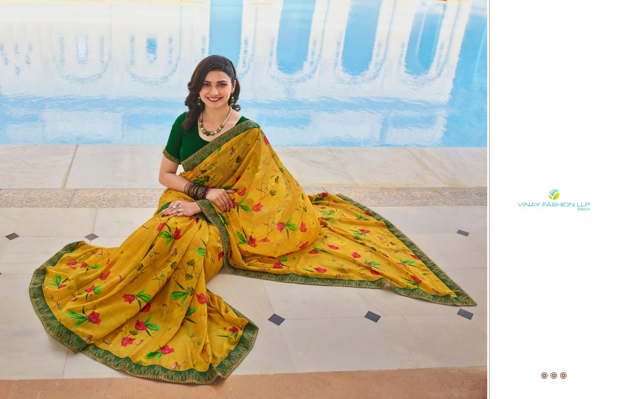 Vinay Sheesha Starwalk Vol 63 Digital Saree Sari Wholesale Catalog 9 Pcs 3 - Vinay Sheesha Starwalk Vol 63 Digital Saree Sari Wholesale Catalog 9 Pcs