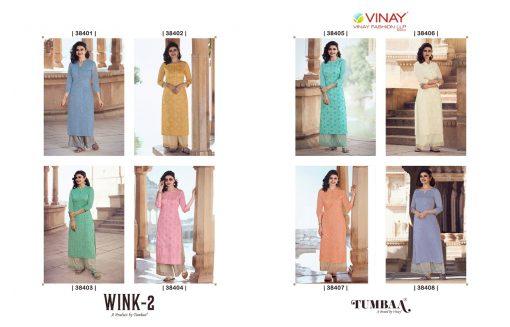Vinay Tumbaa Wink Vol 2 Kurti with Palazzo Wholesale Catalog 8 Pcs 7 510x327 - Vinay Tumbaa Wink Vol 2 Kurti with Palazzo Wholesale Catalog 8 Pcs