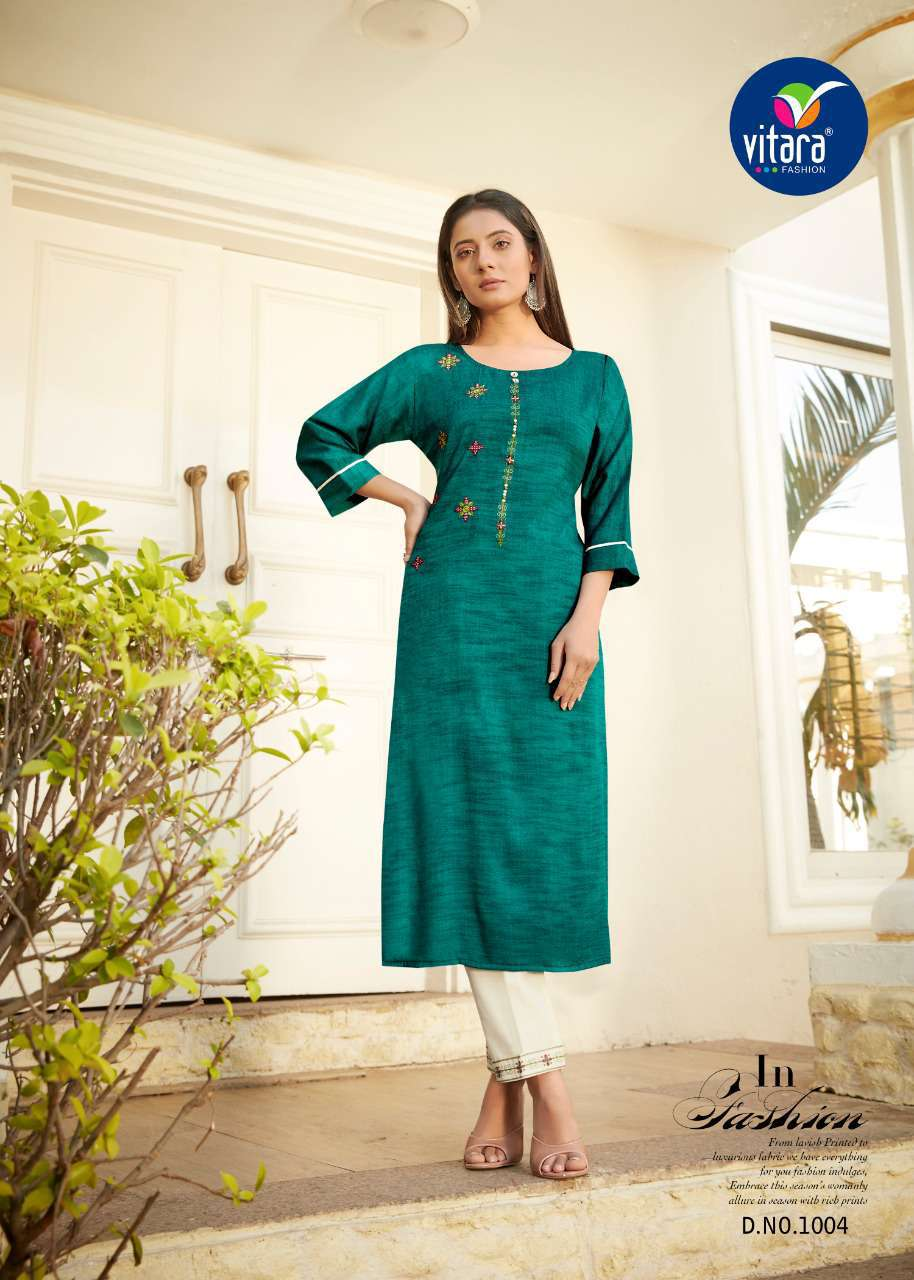 Vitara See More Kurti with Pant Wholesale Catalog 8 Pcs 1 - Vitara See More Kurti with Pant Wholesale Catalog 8 Pcs