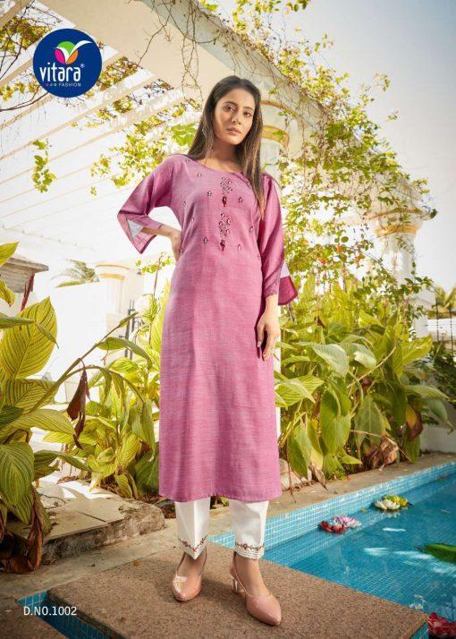 Vitara See More Kurti with Pant Wholesale Catalog 8 Pcs 11 510x714 - Vitara See More Kurti with Pant Wholesale Catalog 8 Pcs