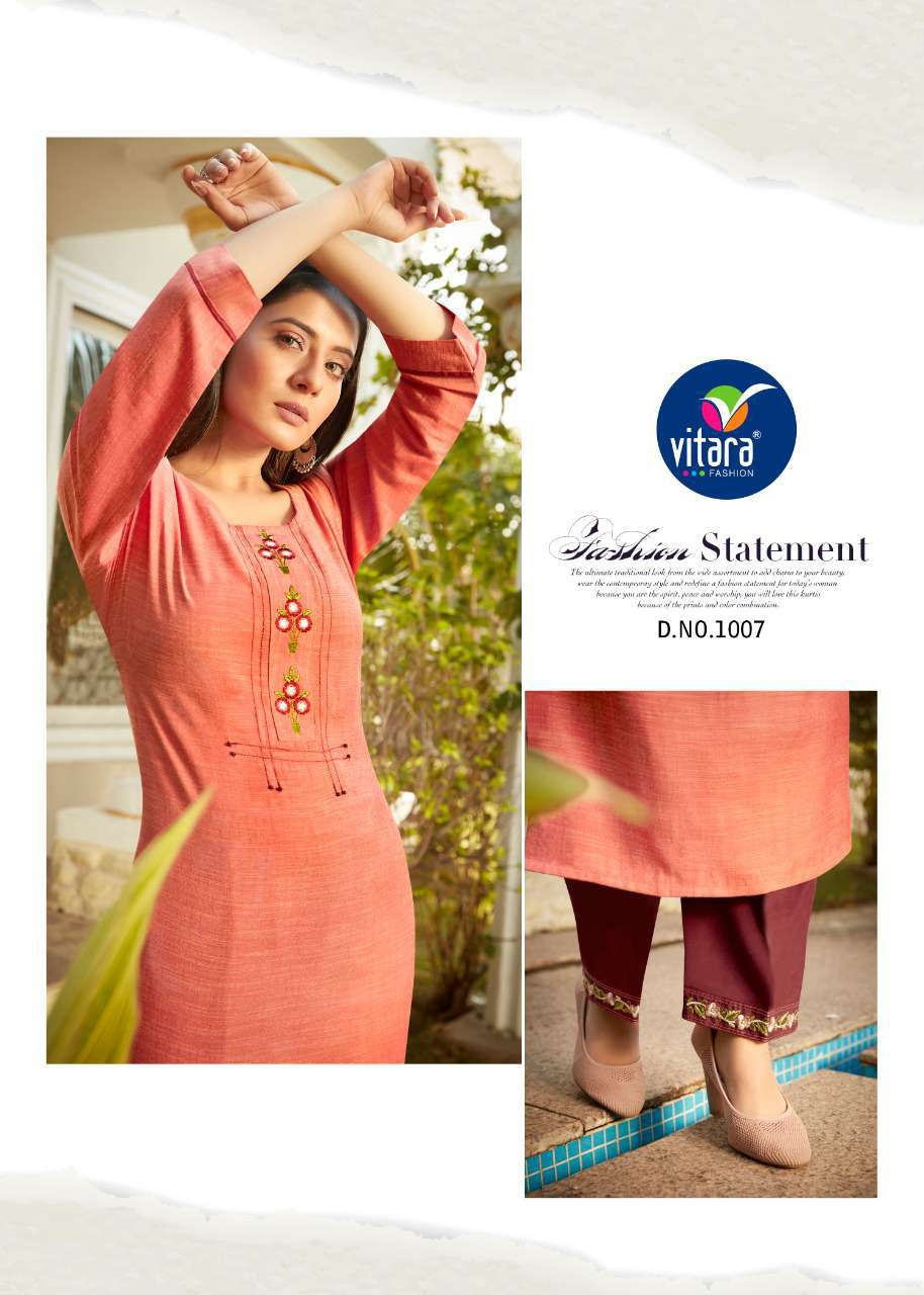 Vitara See More Kurti with Pant Wholesale Catalog 8 Pcs 4 - Vitara See More Kurti with Pant Wholesale Catalog 8 Pcs