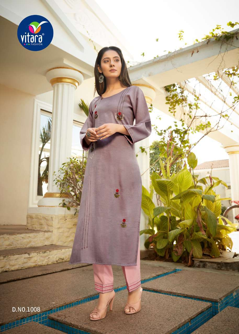 Vitara See More Kurti with Pant Wholesale Catalog 8 Pcs 6 - Vitara See More Kurti with Pant Wholesale Catalog 8 Pcs